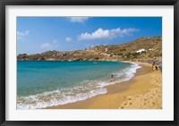 Framed Super Paradise Beach, Mykonos, Greece