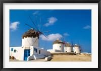 Framed Traditional Windmill, Mykonos, Greece