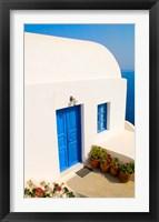 Framed White House, Oia, Santorini, Greece