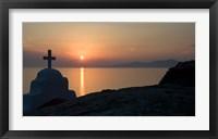 Framed Greece, Mykonos, Hora, Greek Orthodox church