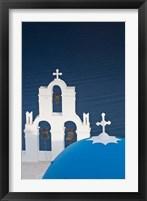 Framed Greece, Santorini, Firostefani, Bell Tower, Domes