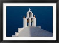 Framed Greece, Santorini, Imerovigli, Church Bell Tower