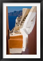 Framed Stairways and Old Cathedral, Oia, Santorini, Greece