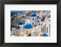 Framed Blue Domed Churches, Oia, Santorini, Greece