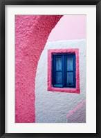 Framed Colorful Pink Building, Imerovigli, Santorini, Greece