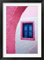 Framed Colorful Pink Building, Imerovigli, Santorini, Greece