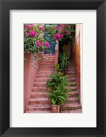 Framed Colorful Stairways, Chania, Crete, Greece