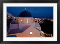 Framed Evening Light on Church, Imerovigli, Santorini, Greece
