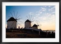 Framed Famous Windmills, Hora, Mykonos, Greece