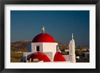 Framed Greece, Mykonos, Red Dome Church Chapels