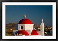 Framed Greece, Mykonos, Red Dome Church Chapels