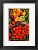 Framed Market With Vegtables, Fira, Santorini, Greece