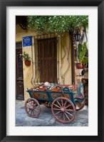 Framed Old Wagon Cart, Chania, Crete, Greece