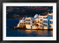 Framed Shoreline of Little Venice, Hora, Mykonos, Greece