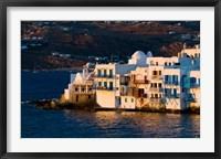 Framed Shoreline of Little Venice, Hora, Mykonos, Greece