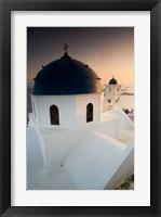Framed Small Town of Imerovigli, Santorini, Greece
