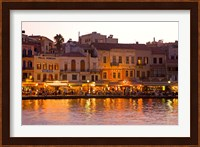 Framed Old Harbor, Chania, Crete, Greece