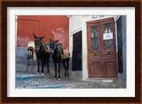Framed Town of Fira, Santorini, Greece