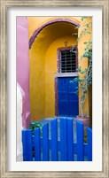 Framed Town of Oia, Santorini, Greece