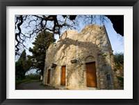 Framed Byzantine church near Kastelli, Church Ayios Panteleimon, Crete, Greece