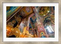 Framed Interior of church in Rethymnon, Crete, Greece