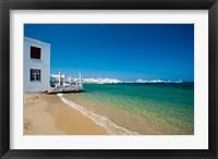 Framed Mykonos Town, Chora, Cyclades, Greece