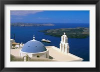 Framed Kimisis Theotokov Church, Thira, Santorini, Cyclades Islands, Greece