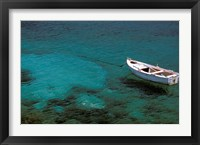 Framed Boat in Harbor, Lakonian Mani, Areolopi, Peloponnese, Greece