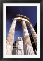 Framed Temple of Athena, Tholos Rotunda, Delphi, Fokida, Greece