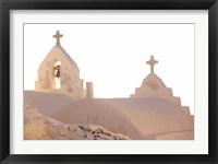 Framed Bell of Greek Orthodox Church, Mykonos, Cyclades, Greece