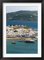 Framed Greece, Mykonos, Chora, Inner Harbor of Mykonos
