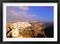 Framed Late Afternoon View of Town, Thira, Santorini, Cyclades Islands, Greece