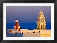 Framed Firostefani, Santorini, Greece