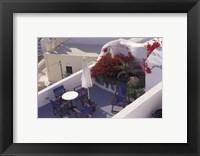 Framed Patio of Hotel Between Fira and Imerovigli, Greece