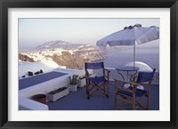 Framed View Toward Caldera, Imerovigli, Santorini, Greece