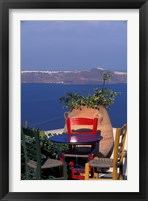 Framed Terrace with Sea View, Santorini, Greece