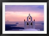 Framed Belltower at Sunrise, Mykonos, Greece