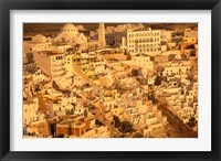 Framed View of Thira at Sunset, Santorini, Cyclades Islands, Greece