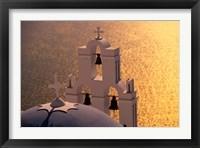 Framed Kimisis Theotokov Church, Santorini, Cyclades Islands, Greece