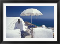 Framed Terrace Overlooking Aegean Sea, Anafi, Cyclades Islands, Greece