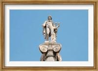 Framed Greek Mythology, Apollo Statue at Athens Academy, Greece