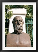 Framed Aeschylus, Classical Athens Bust, Statue, Athens, Greece