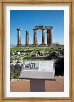Framed Greece, Corinth Doric Temple of Apollo