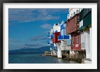 Framed Greece, Cyclades, Mykonos, Hora 'Little Venice' area