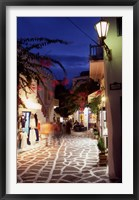 Framed Alleyway at Night, Mykonos, Greece