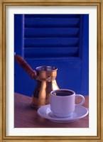 Framed Greek Coffee and Copper Pot, Crete, Greece