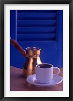 Framed Greek Coffee and Copper Pot, Crete, Greece