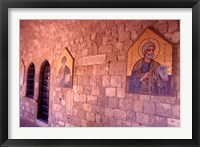 Framed Wall Mosaics in the Cloister, Filerimos Monastery, Rhodes, Dodecanese Islands, Greece
