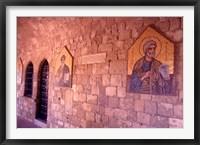 Framed Wall Mosaics in the Cloister, Filerimos Monastery, Rhodes, Dodecanese Islands, Greece