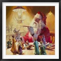 Framed Santa More Than Toys